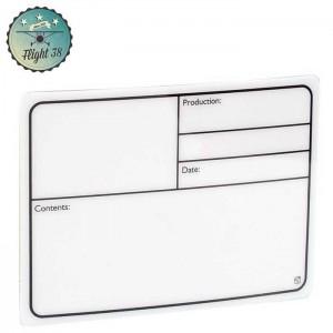 F88001 Plaque Signalétique adhésive plastique blanc 177x127mm