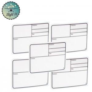 F88001X5 Plaque Signalétique adhésive plastique blanc 177x127mm