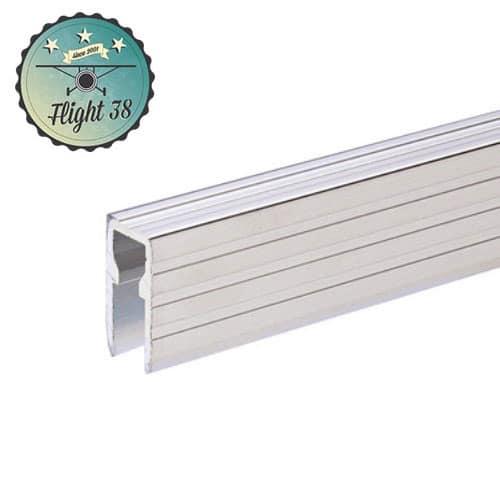 FALU6220 Profilé aluminium de Recouvrement ou Base pour Parois Séparatrices pour matériau 9,5 mm