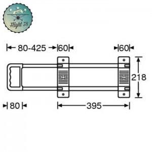 FP3471-B Poignée Télescopique 1 Barre longueur 475 - 820 mm