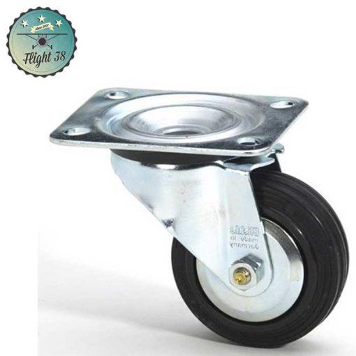 roulette noir diam 80mm sans frein pour caisses de transport d'occasion