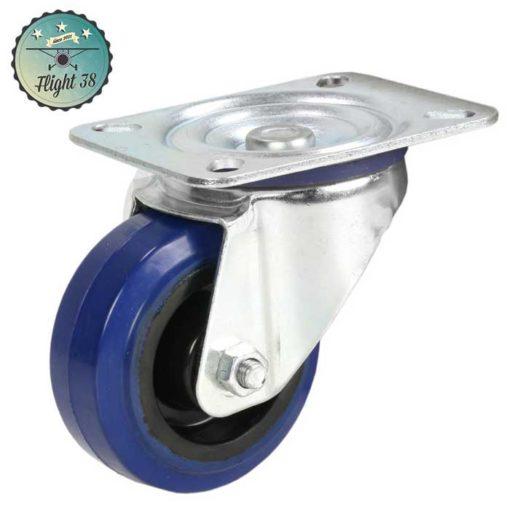 roulette bleu diam 80mm sans frein pour flightcase occasion ou en kit