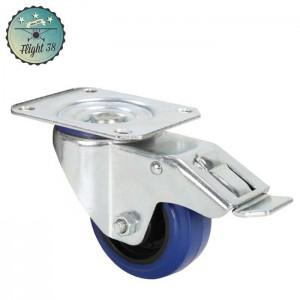 FR372091 Roulette Pivotante avec Frein Bandage bleu 80 mm