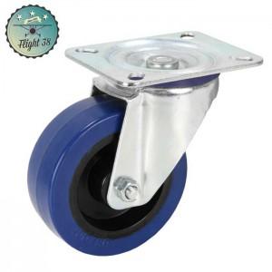 roulette bleu diam 100mm sans frein pour caisse de transport sur mesure