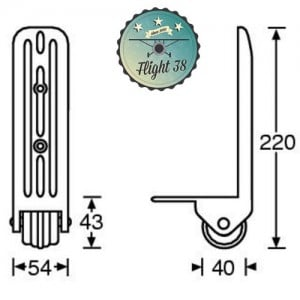 FR3782-B Roulette d'Angle nylon 40 mm