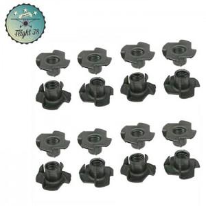 lot de 16 ecrous grills pour fixations roulettes tout diamètres