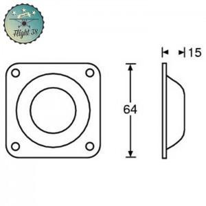 FV4938-B Pied acier Glissant grand Estampage femelle