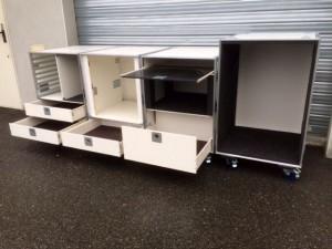 meuble en flight case pour cuisine