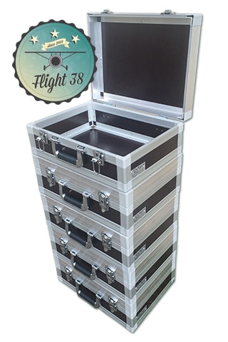 valisette flight case pour le transport d'objets fragiles