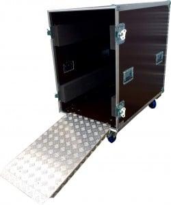 Caisse de transport avec rampes en alu
