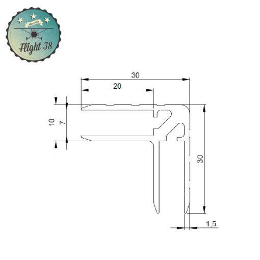 FALU6106.B cornière double alu flightcase