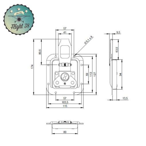 FF17302.B Fermeture déportée grand modèle