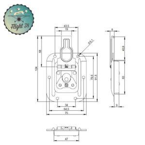 FF17343.B Fermeture déportée petit modèle