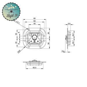 17373S-B Fermeture Papillon petite à Ressort dans petite Cuvette 10 mm