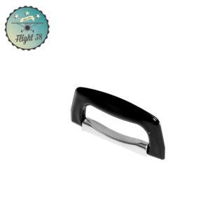 H1425.a Poignée de Valise plastique chrome noir