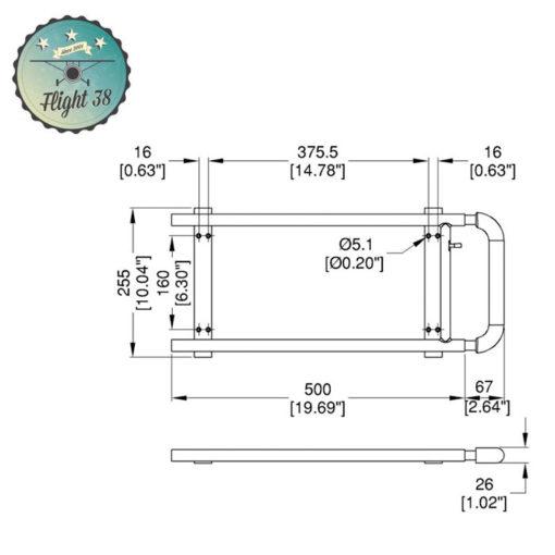 H2001.b Poignée Télescopique renforcé 1 Barre longueur