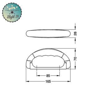 HG-4245.a Poignée de Valise plastique monobloc noir