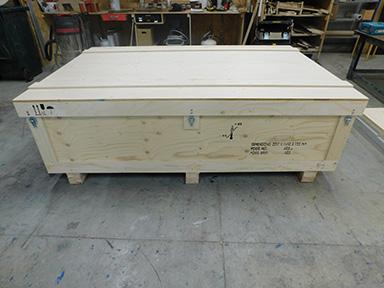 caisse de transport en bois detfi pour semi-remorque