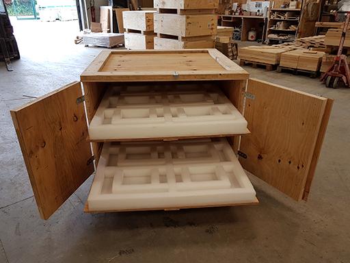 fabrication de caisse de transport en bois