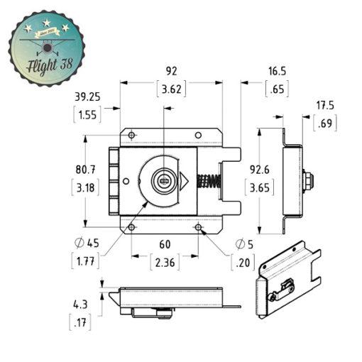 Fermeture slam verrouillable à languettes inferieur L2472